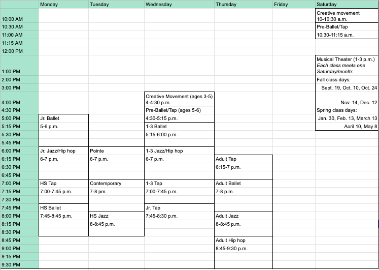 Amp Schedule_20-21